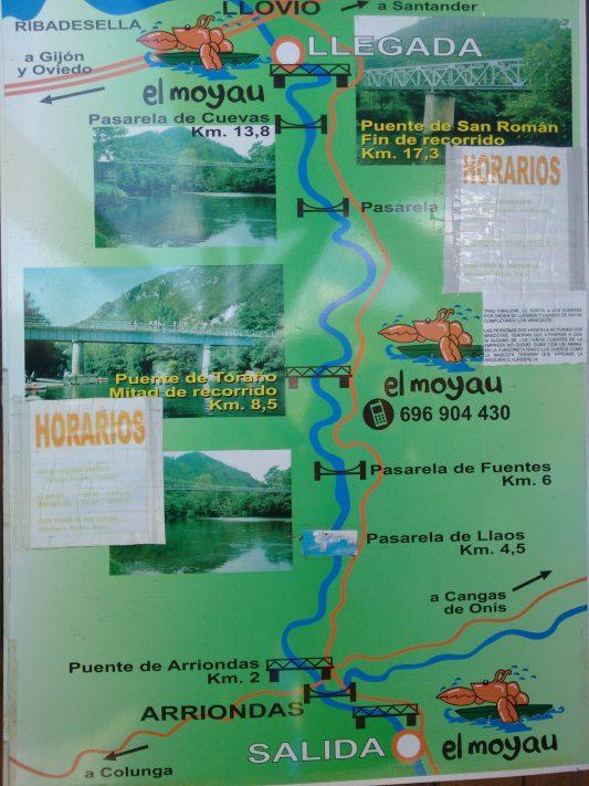 Plano del descenso del Sella