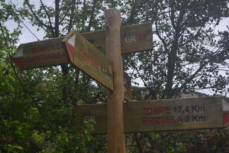 Ruta circular desde Puentedey hasta el Castro de Brizuela.