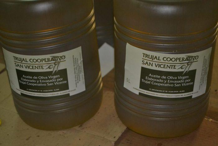 Aceite de oliva virgen Trujal Cooperativo San Vicente