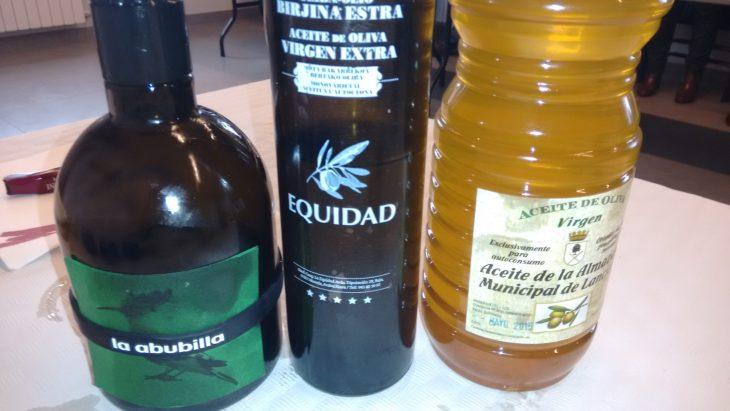 Los tres aceites de la cata