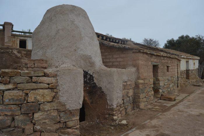 Réplica de parte de varios edificios del poblado íbero