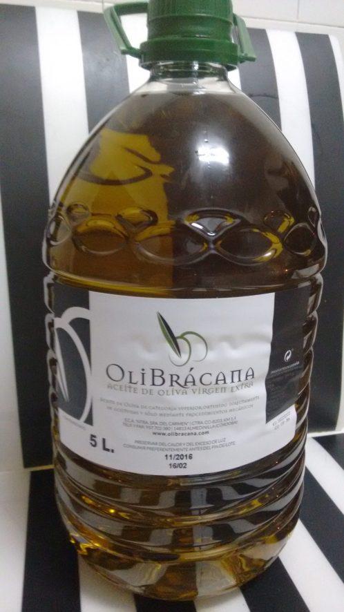 Garrafa de 5 litros de aceite de oliva virgen extra