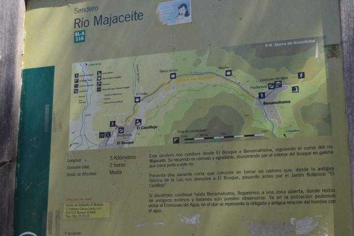 Mapa de la Ruta del Río Majaceite