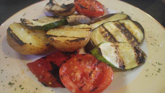 Parrillada de verduras a la brasa