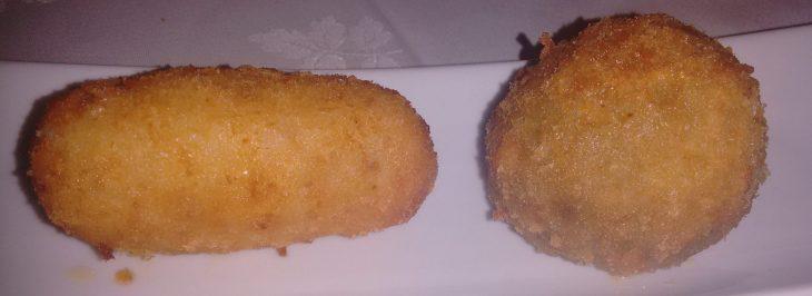 Croqueta de jamón y Croqueta de Boletus Edulis