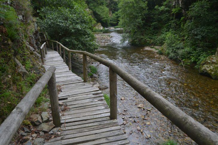 Pasarelas junto al río Esva