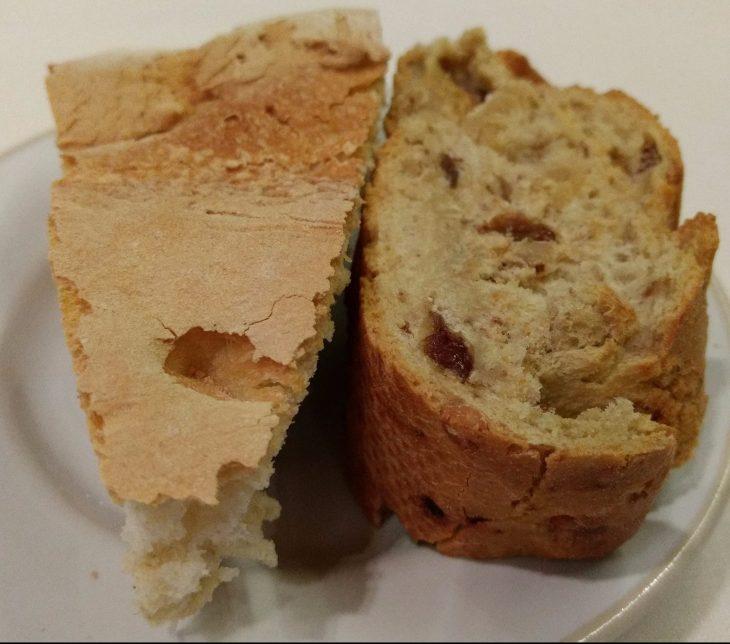 Pan de pueblo y pan de pasas con frutos secos