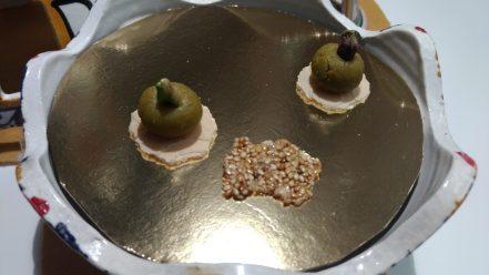 Crocante de sesamo y Mazapán de pistacho