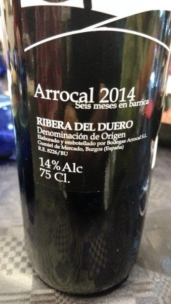 Vino tinto Arrocal 2014