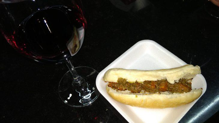 Copa de vino y Bocatita Agus