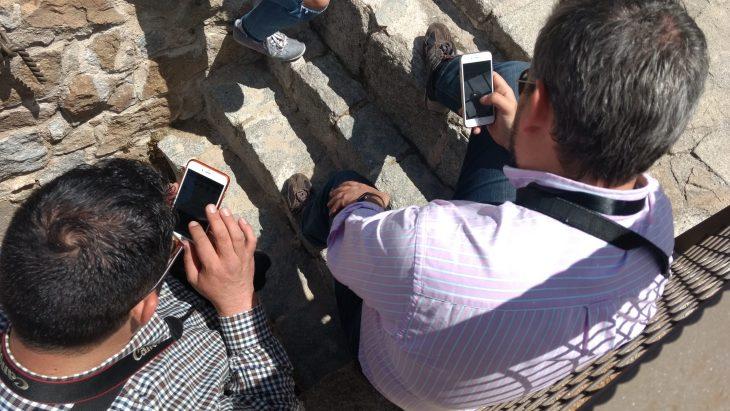 Tuiteando desde la muralla de Ávila