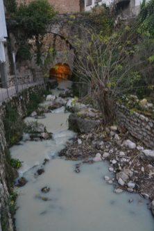 Rio Cerezuelo camino de la bóveda de la Plaza Santa Maria