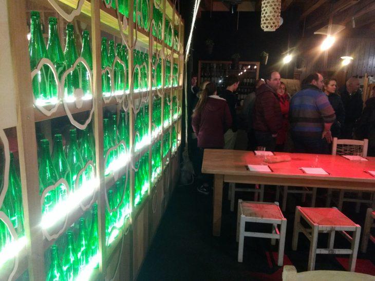 Menú de sidrería en Araeta Sagardotegia de Donostia