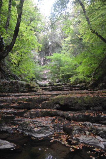 Cascada de las Pisas sin agua
