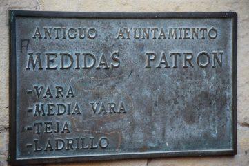 Antiguas medidas de Laguardia
