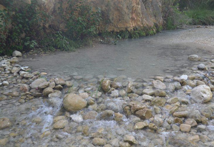 Pozas en el Río Chillar