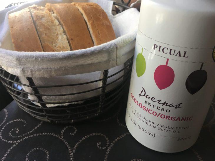Pan y AOVE de envero ecológico cordobés Duernas