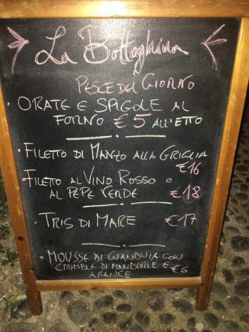 Restaurante La Botteghina de Alghero