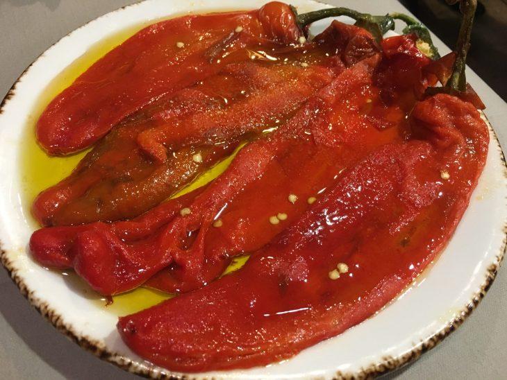 Pimientos rojos asados de Azkorri
