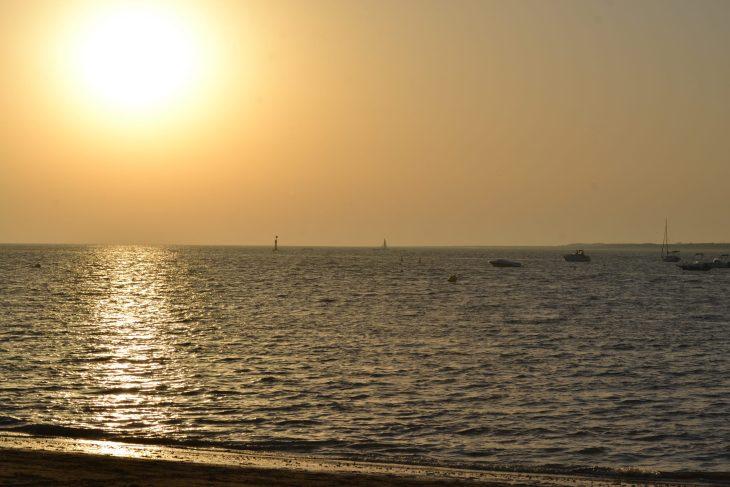 Atardecer en la Playa de Sanlúcar de Barrameda