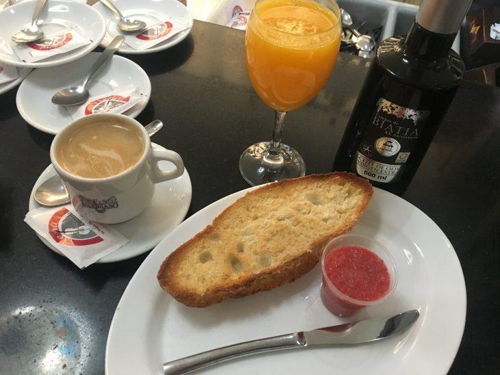 Desayuno en el Bar Cafetería Viena