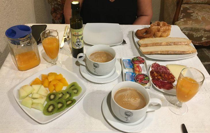 Desayuno de la Posada de los Aceiteros