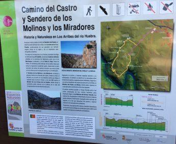 Panel de la ruta en Saldeana