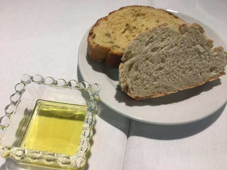 Pan y AOVE de arbequina