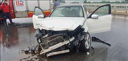 Susurluk´ta otoyolda trafik kazaları: 2 yaralı