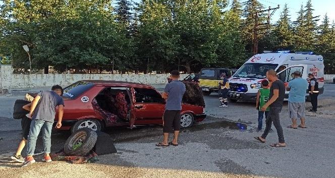 Otomobilde sızan LPG bomba gibi patladı: 3 yaralı