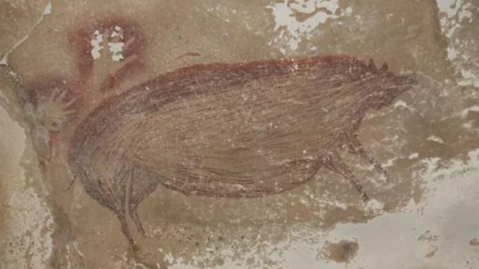 Bilinen en eski kaya resmi bir domuzu temsil ediyor