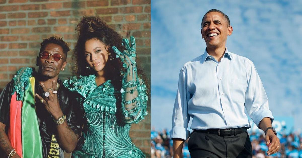 """Former President of the United States of America, Barack Obama is now a 'fan' of Shatta Wale – because he has streamed his music and included it in his summer playlist. The dancehall star's appearance on Beyoncé's """"The Lion King: The Gift"""" soundtrack album is taking him places. He appeared in Beyoncé's """"Black is King"""" visual album and now, he is getting his voice heard by the 44th President of the US – and probably his family. On Monday, August 17, Barack Obama dropped his yearly summer playlist for 2020 and to everyone's surprise, Beyoncé's song """"Already"""" which features Ghana's own Shatta Wale made its way on the playlist. He captioned his playlist on Instagram: """"Over the past few months, I've spent a lot of time listening to music with my family. I wanted to share some of my favourites from the summer––including songs from some of the artists performing at this week's @DemConvention. As always, it's a mix of genres that travels through various eras. I think there's something in here for everybody––hope you enjoy it."""""""