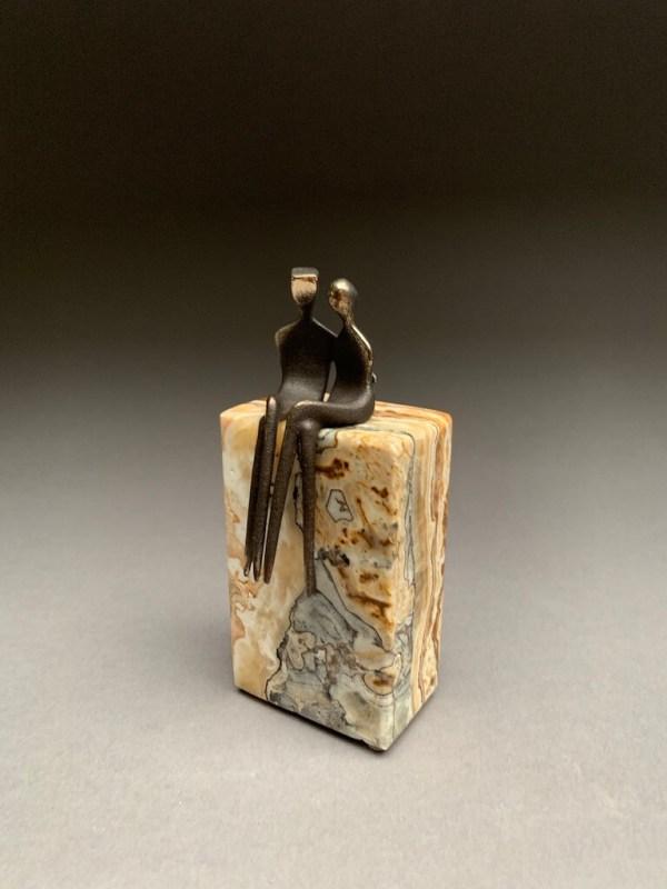 Miniature 8th anniversary bronze sculpture