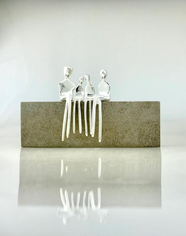 Family of four caress silver front