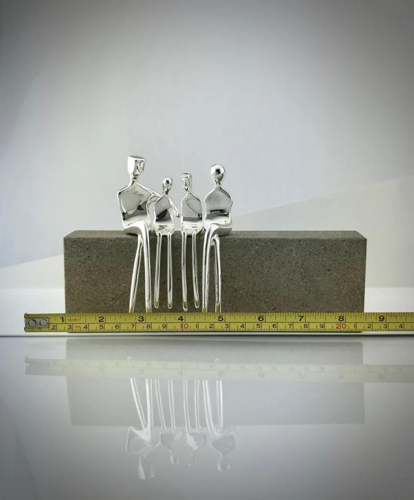 Family of four caress silver tape measure