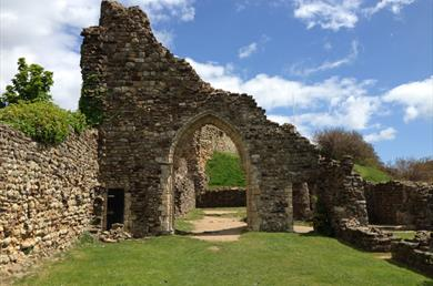 The ruins of Hastings Castle