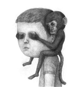 Drawing_Pencil_Monkeyonhuman