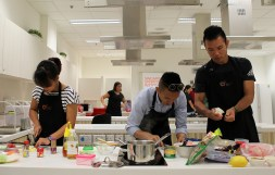 Team John in action during the myActiveSG Reality Series Game Show (Festive Edition) Cookoff at Singapore Sports Institute on 22 December 2016.