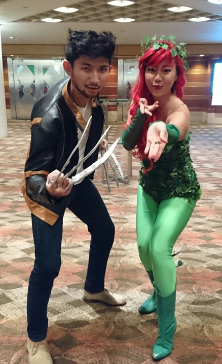 Wolverine and Poison Ivy in a demonstration of power!