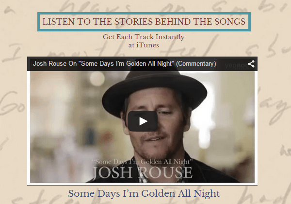 Josh Rouse   The Embers of Time commentary