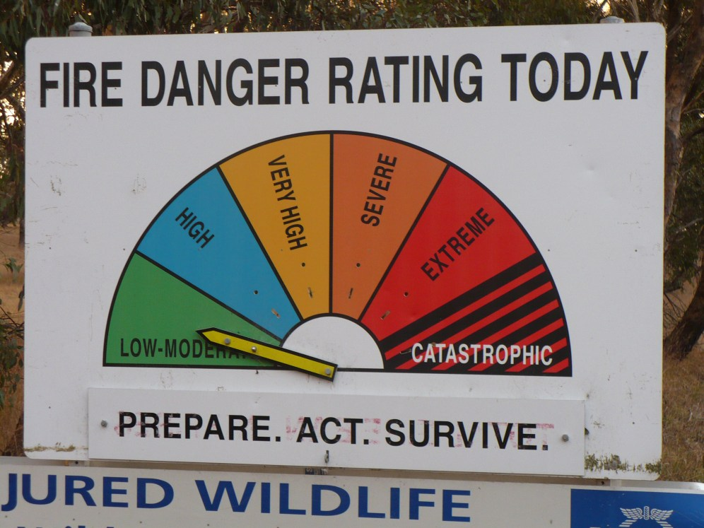 You see this sign at the side the roads out in the bush.