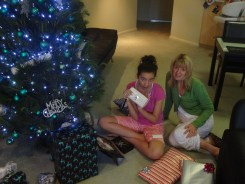 Opening presents under the tree