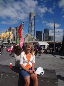 Gail in Federation Square