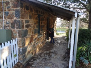 Gail trying to break into Brudells Cottage.