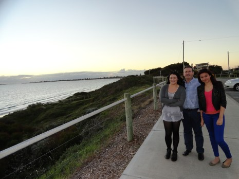 Nicola, Phill and Ciara enjoying the evening sun!