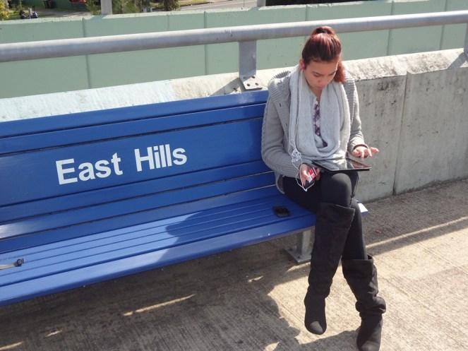Ciara at East Hill Train Station.