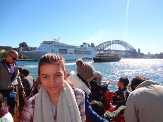 Ciara on the ferry