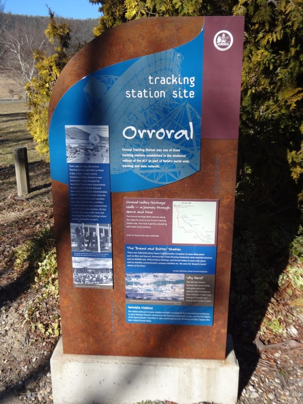 Information sign at the old Orroral Tracking Station site.