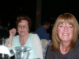 Gail and mum at dinner.