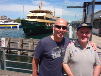 Jim and Donald at Manly Wharf